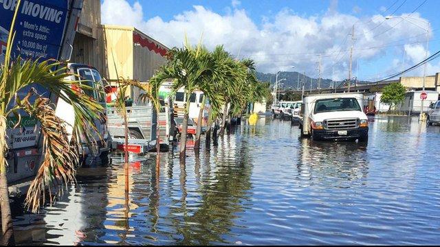 High-tide flooding in Honolulu