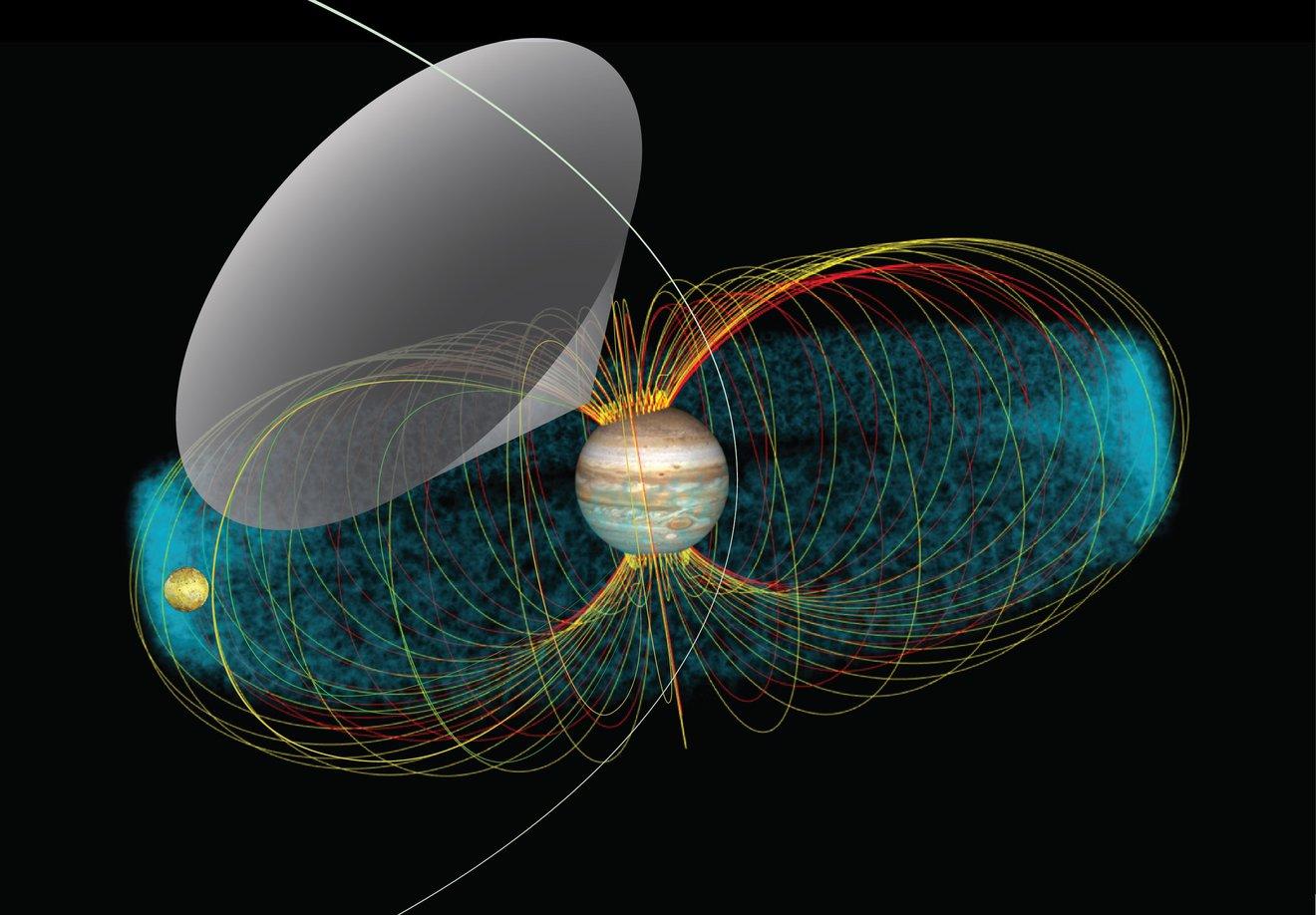Juno de la NASA detecta emisiones de radio de Io, la luna volcánica de Júpiter