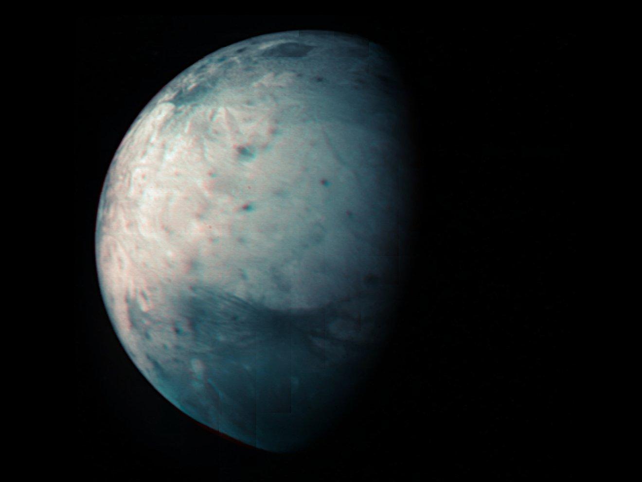 Ganymede, v infračerveném spektru