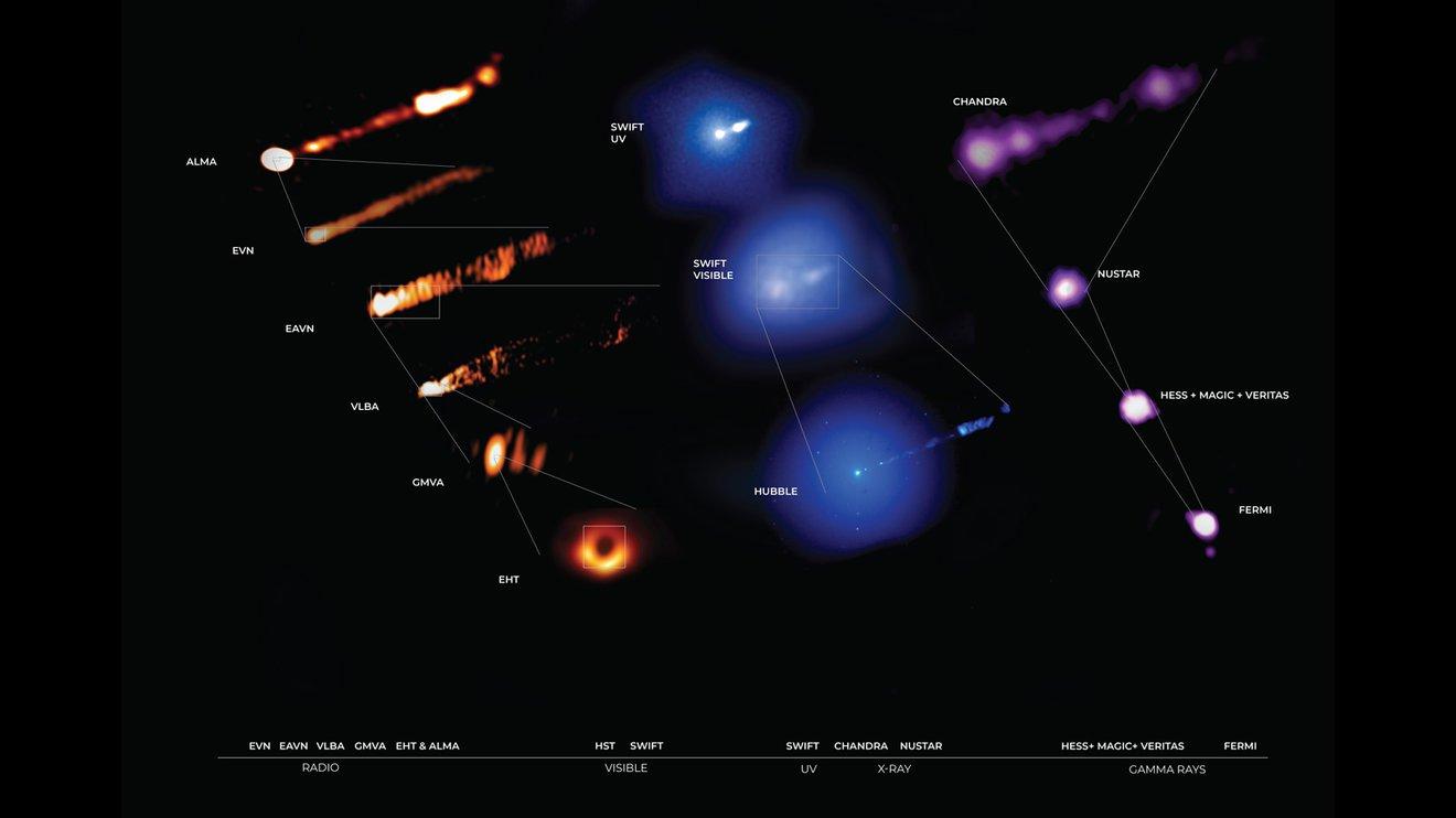 Observaciones sin precedentes del famoso agujero negro de la galaxia M87