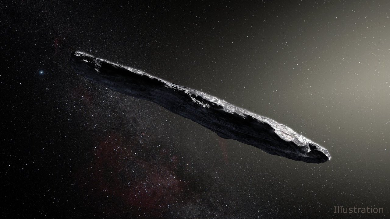 Asteroids and comets background image