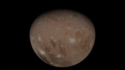 Image of Jupiter's moon, Ganymede