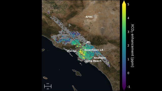 PIA24523 Carbon Dioxide Over the L.A. Metropolitan Area