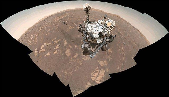 NASA's Perseverance Mars rover took 62 individual images with its WATSON camera