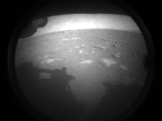 Perseverance Rover's First Image from Mars