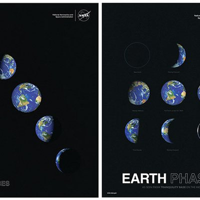 JPL Earth Day Poster - Earth Phases