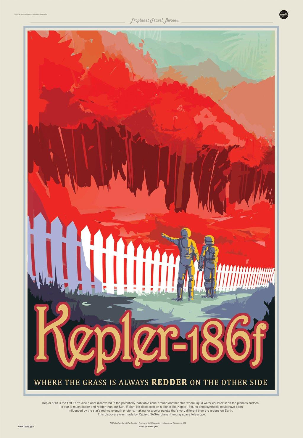 Kepler-186 f - Where the Grass is Always Redder