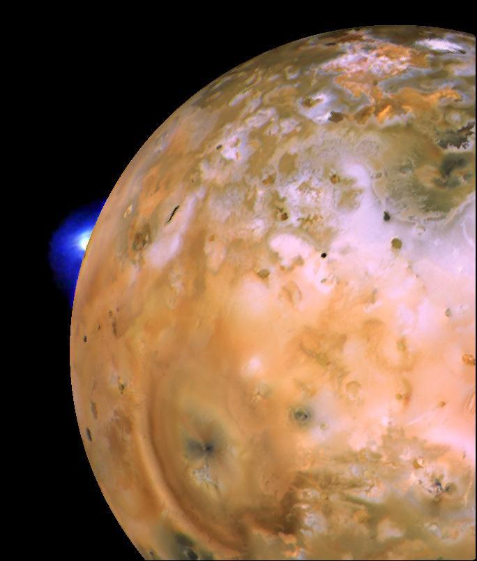 Eruzione del vulcano Loki su Io, NASA/JPL Image