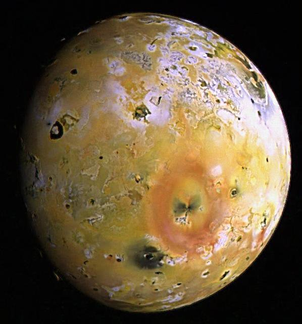 The images used to create this enhanced color composite of Io were acquired by NASA's Galileo spacecraft during its seventh orbit (G7) of Jupiter. Low sun angles near the terminator offer lighting conditions which emphasize the topography on volcanic Io.