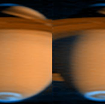 False color image of Saturn