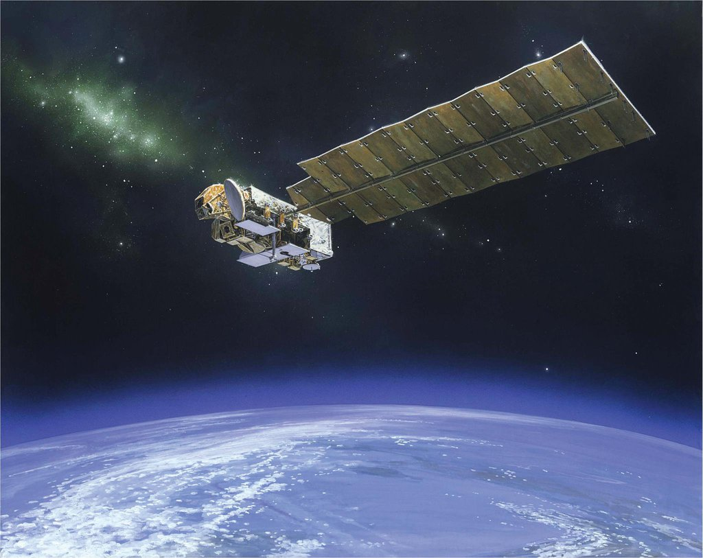 The Aura spacecraft is NASA's atmospheric chemistry mission that is monitoring the Earth's protective atmosphere.