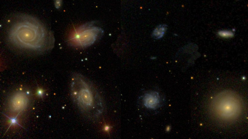 A new study analyzes several sites where dead stars once exploded. The explosions, called Type Ia supernovae, occurred within galaxies, six of which are shown in these images from the Sloan Digital Sky Survey.