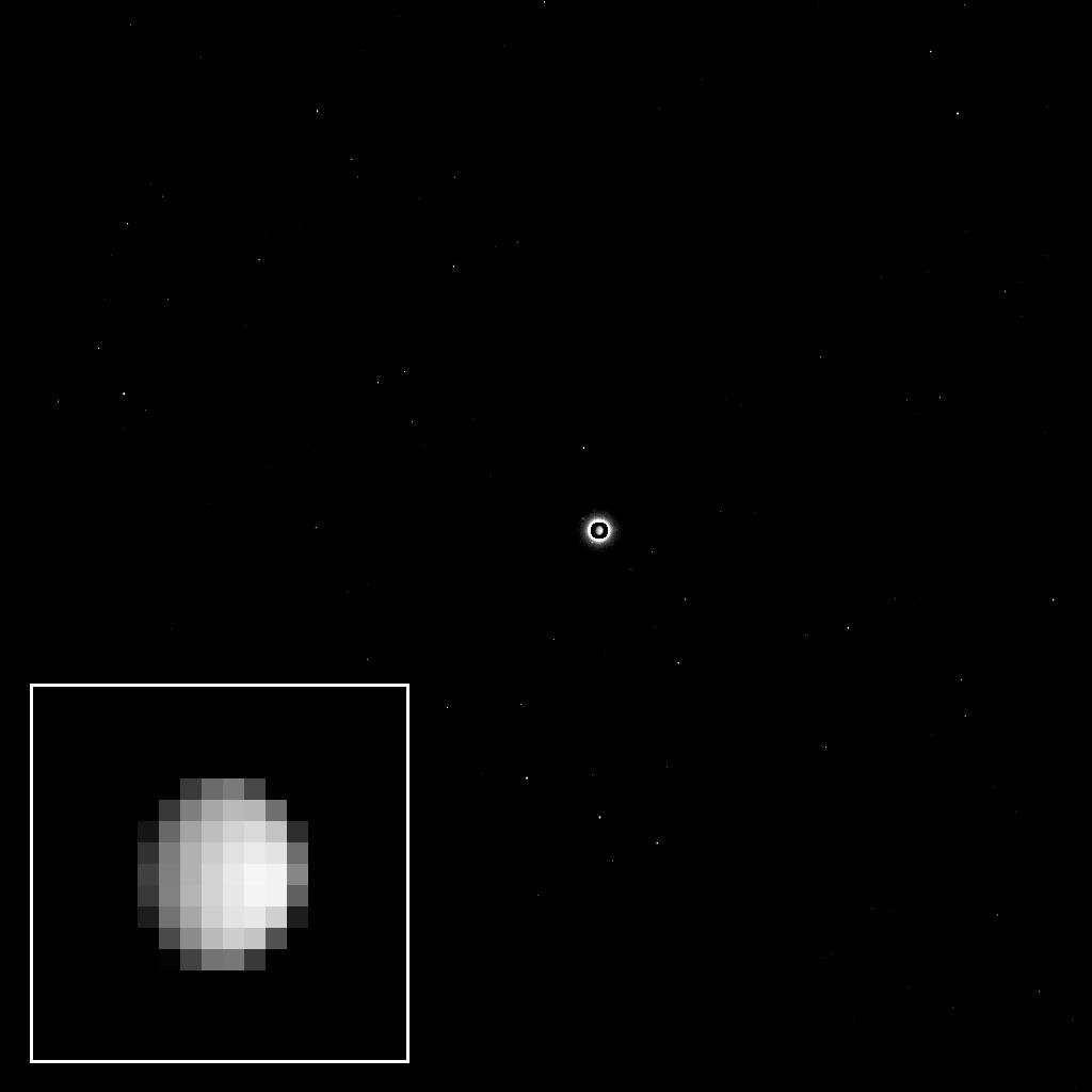 As NASA's Dawn spacecraft flies through space toward the dwarf planet Ceres, the unexplored world appears to its camera as a bright light in the distance, full of possibility for scientific discovery.