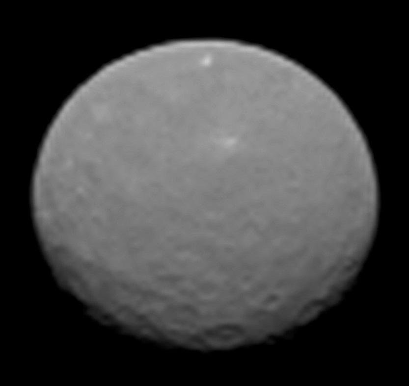 This image is one several images NASA's Dawn spacecraft took on approach to Ceres on Feb. 4, 2015 at a distance of about 90,000 miles (145,000 kilometers) from the dwarf planet.