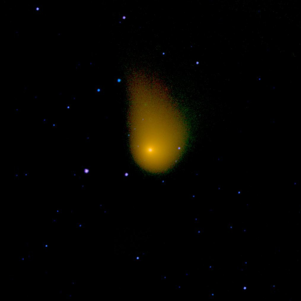 NASA's NEOWISE spacecraft observed the Oort cloud comet C/2006 W3 (Christensen) on April 20th, 2010, as it traveled through the constellation Sagittarius.