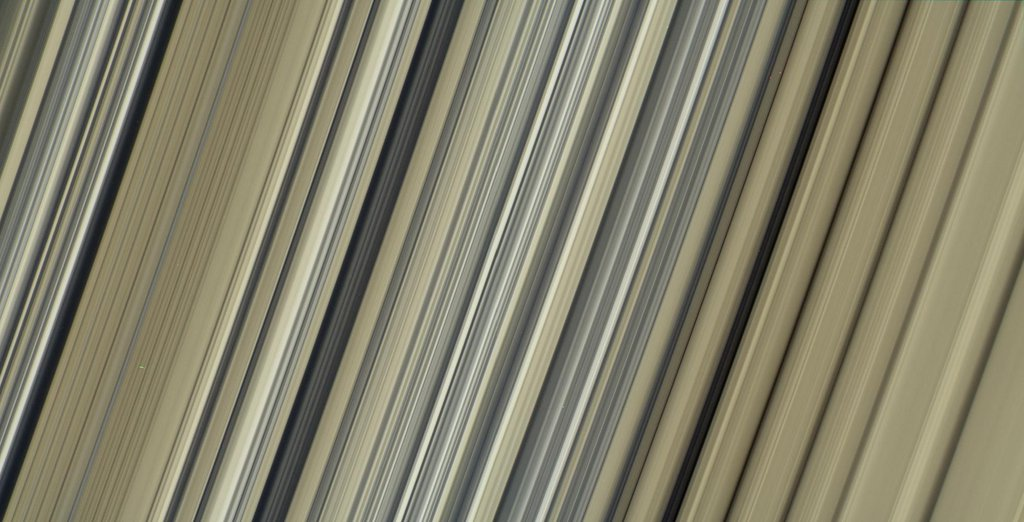 This image from NASA's Cassini spacecraft is one the highest-resolution color images of any part of Saturn's rings, to date, showing a portion of the inner-central part of the planet's B Ring.