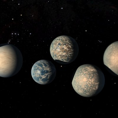 This illustration shows the seven Earth-size planets of TRAPPIST-1