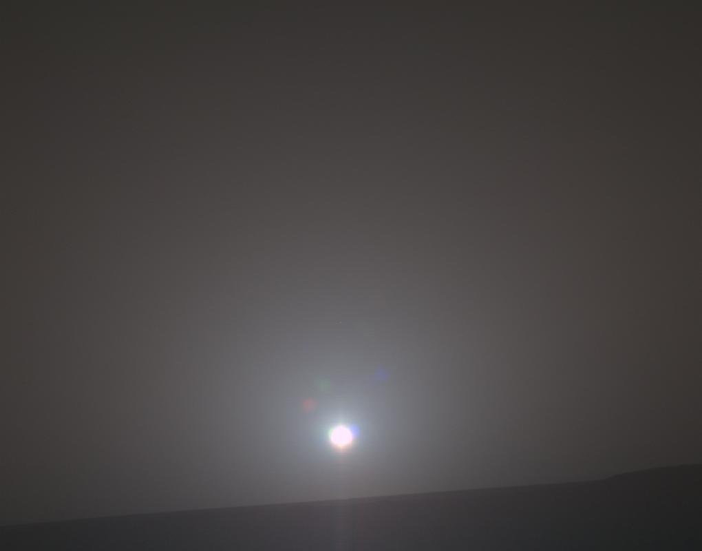 NASA's Mars Exploration Rover Opportunity recorded the dawn of the rover's 4,999th Martian day on Feb. 15, 2018, yielding this processed, approximately true-color scene. The view looks across Endeavour Crater.
