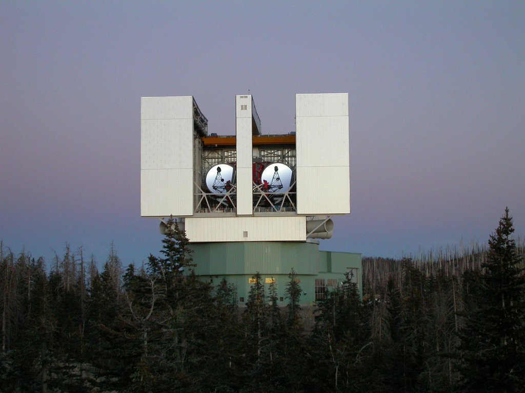 The Large Binocular Telescope Interferometer, or LBTI, is a ground-based instrument connecting two 8-meter class telescopes on Mount Graham in Arizona to form the largest single-mount telescope in the world.