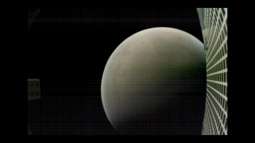 On Nov. 26, 2018, MarCO-B, one of NASA's Mars Cube One (MarCO) CubeSats, took this image of Mars from about 4,700 miles (6,000 kilometers) away during its flyby of the Red Planet.