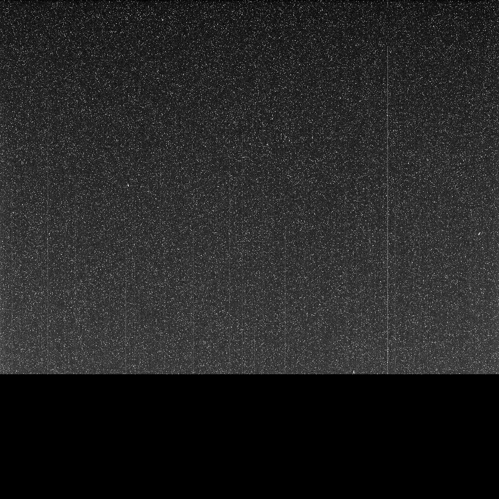 Taken on June 10, 2018 (the 5,111th Martian day, or sol, of the mission) this 'noisy', incomplete image was the last data NASA's Opportunity rover sent back from Mars.