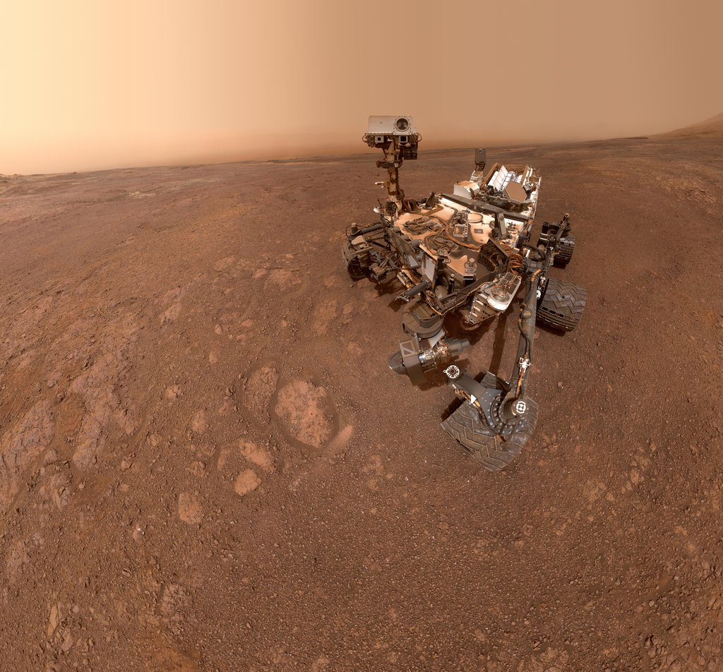 This image shows a selfie taken by NASA's Curiosity Mars rover on Sol 2291 (January 15) at the 'Rock Hall' drill site, located on Vera Rubin Ridge.