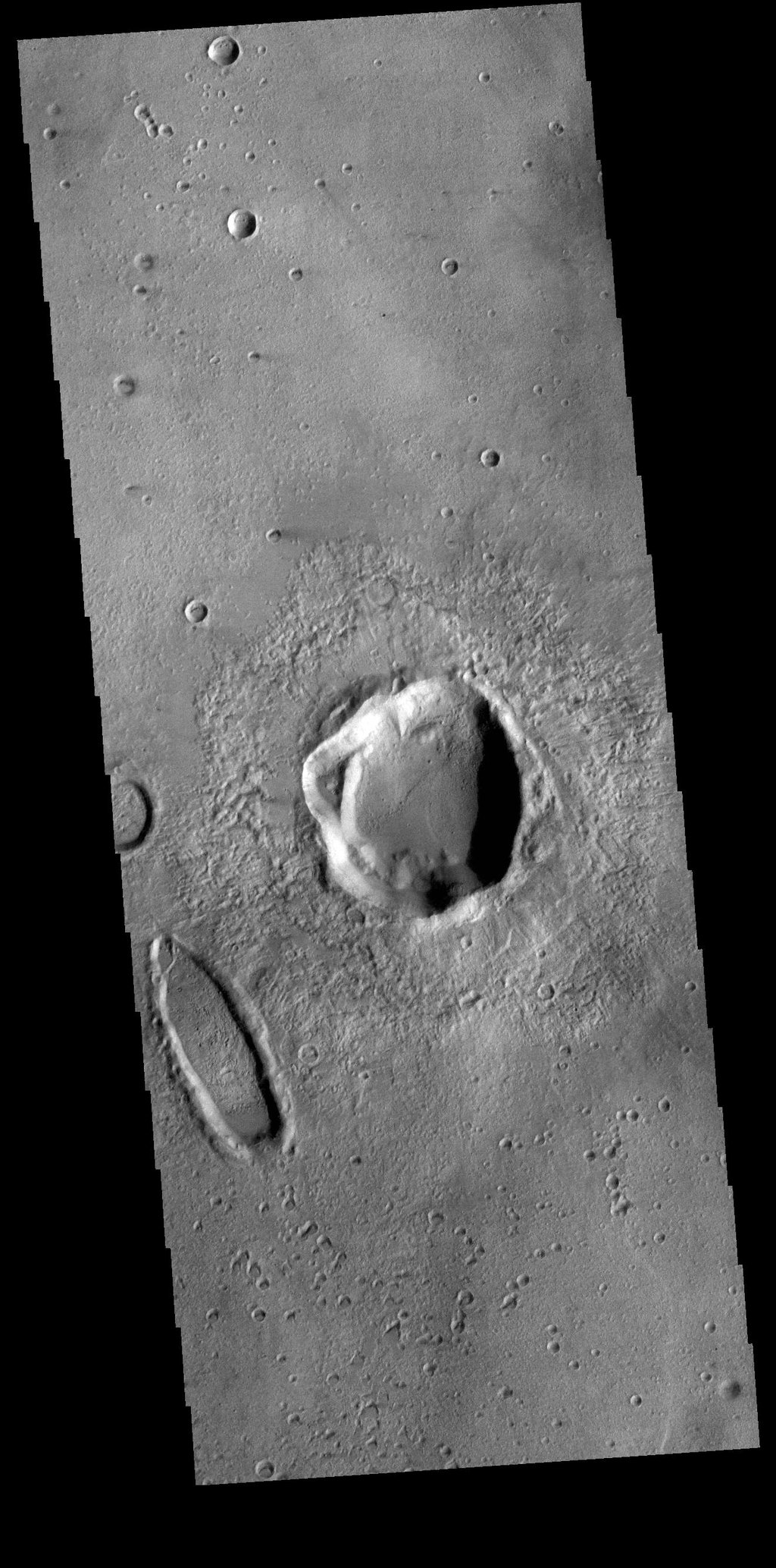 This image from NASA's Mars Odyssey shows a portion of Noachis Terra to the northeast of Argyre Planitia.