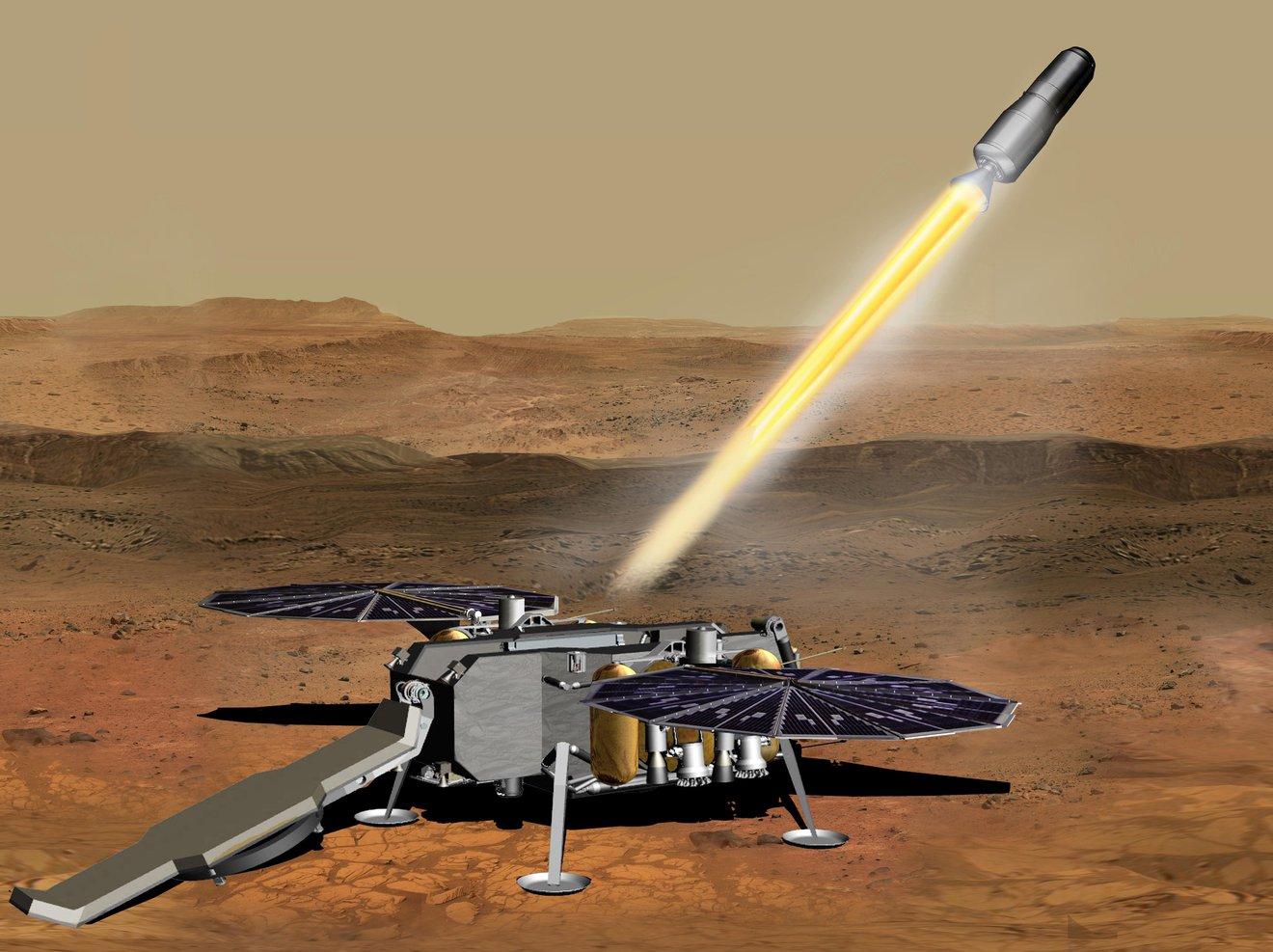 La NASA adjudica el contrato del sistema de propulsión Mars Ascent para la devolución de muestras de la superficie de Marte que encapsulará Perseverance.