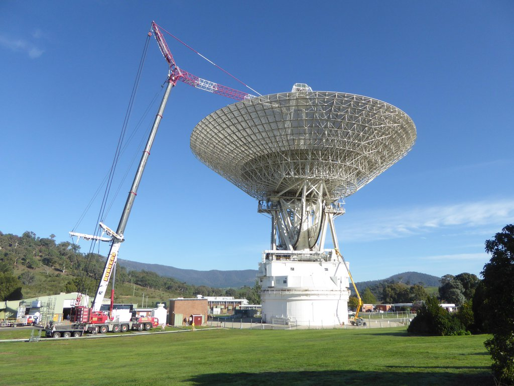 Deep Space Station 43 is the largest steerable parabolic antenna in the Southern Hemisphere and currently undergoing upgrades, which are expected to be completed by January 2021.