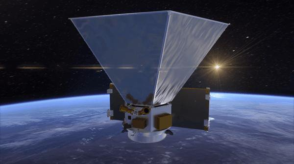 This animation shows the preliminary design for the spacecraft, including hexagonal sun shields that will help keep the instruments cool.