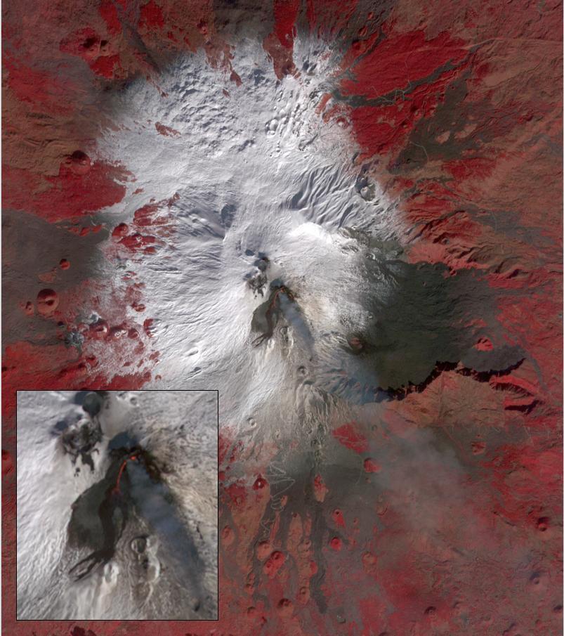 NASA's Terra spacecraft shows a strong eruptive episode began, starting December 13, 2020, at Mt. Etna's New SE summit crater.