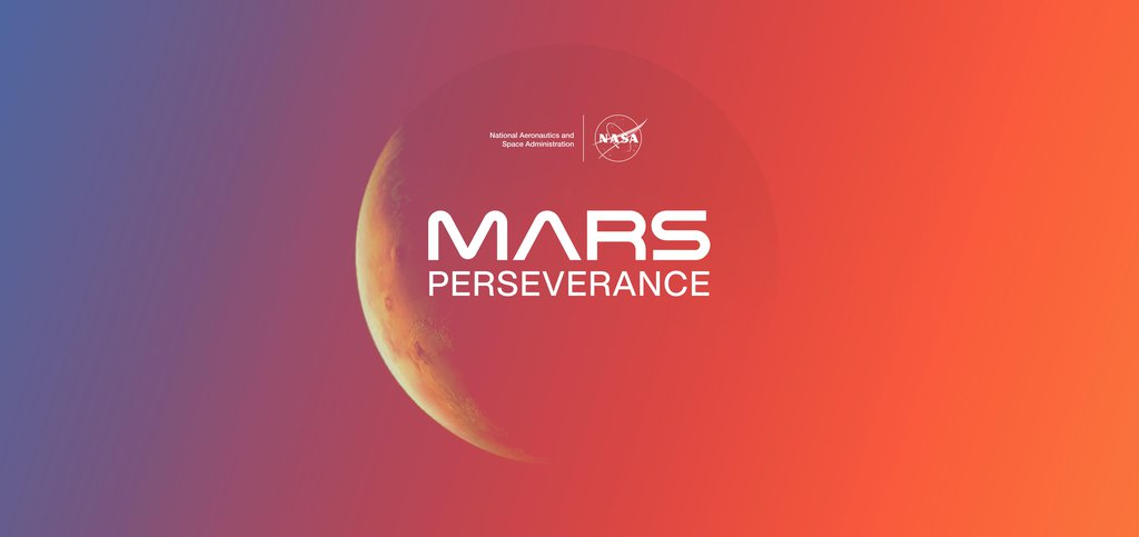 An illustration of the planet Mars, highlighting NASA's Mars Perseverance rover mission.