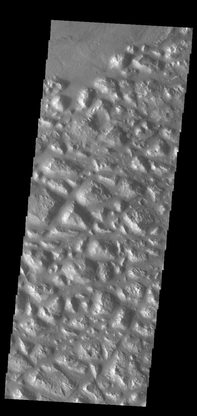 This image from NASA's Mars Odyssey shows part of Atlantis Chaos.
