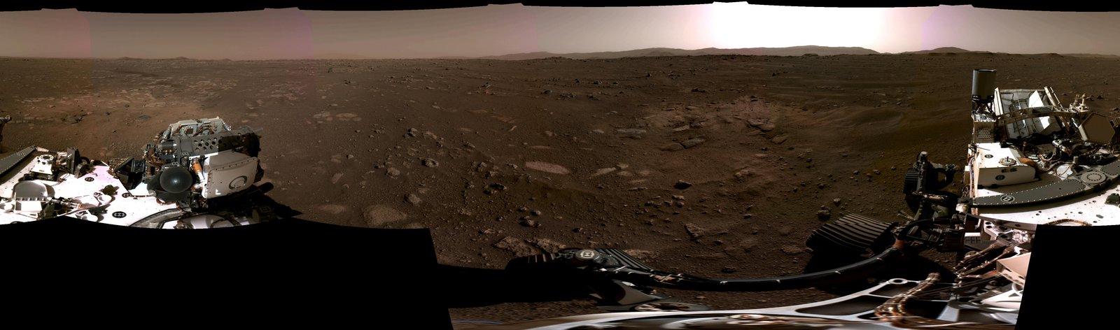 El Mars Perseverance Rover de la NASA proporciona una visión del aterrizaje con grabación de audio, la primera y única del Planeta Rojo.