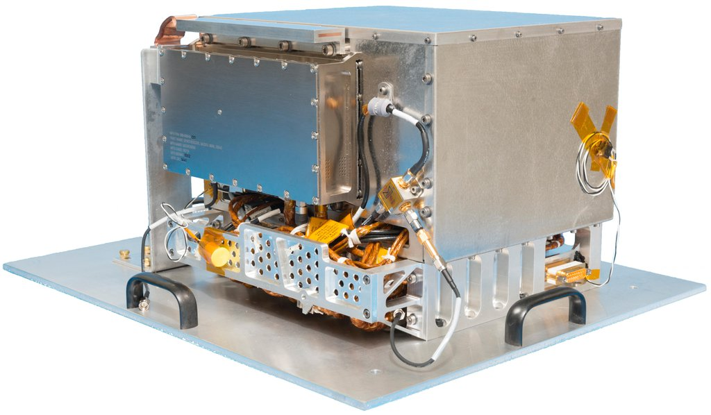 NASA's Deep Space Atomic Clock could revolutionize deep space navigation. One key requirement for the technology demonstration was a compact design. The complete hardware package is shown here and is only about 10 inches (25 centimeters) on each side.