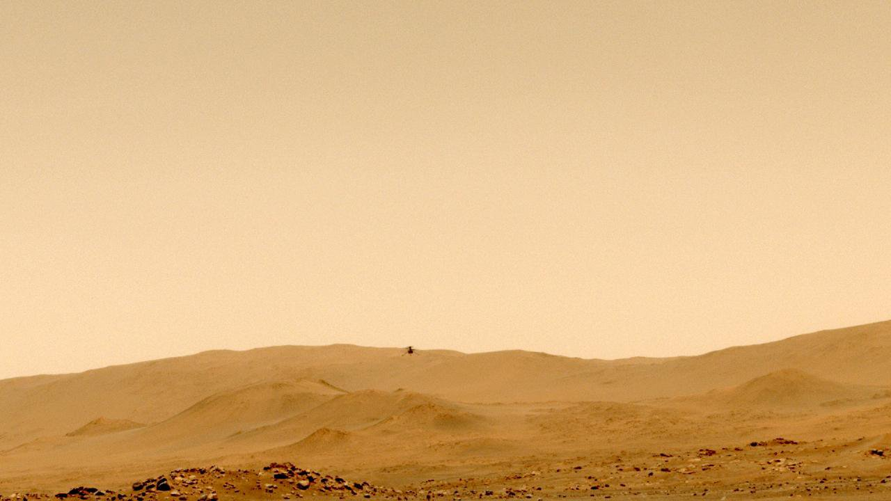 Un nuevo vídeo en 3D muestra al helicóptero Ingenuity Mars de la NASA volando en Marte