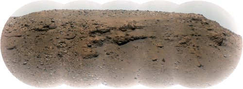 Mars' Delta Scarp From More Than a Mile Away