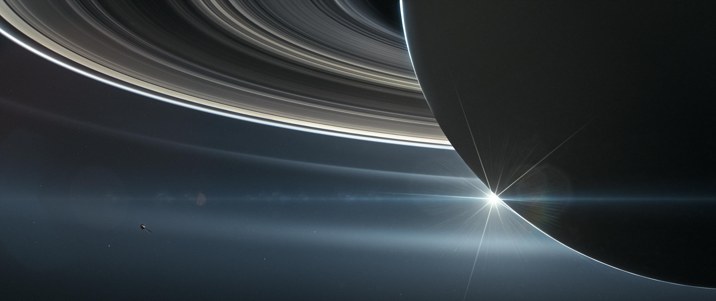 Cassini orbiting Saturn from Nasa